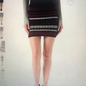 BB Dakota patterned knit mini skirt